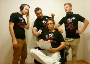 Redakteure der Schwulen Welle im Dezember 2012