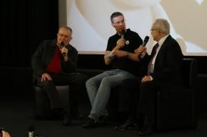 Röbi Rapp und Ernst Ostertag beim OGays Regenbogenkino. Bild: Schwule Welle