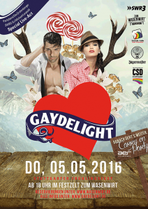 Plakat Gaydelight Mai 2016