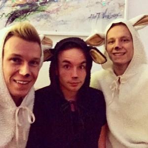 Simon, Johannes und Matthias sind ein Trärchen