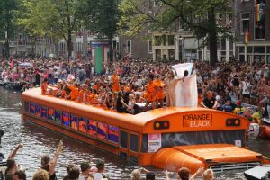 Canal Pride Amsterdam '18 Orange is the new black Boot