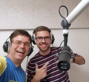 Dieter mit Yannick im Studio