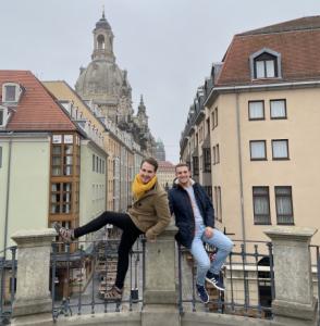 Chris und Toni vom Hinternhof-Podcast
